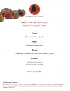 Restaurant per Sopar Castanyada al Priorat